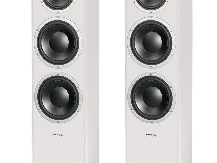 Dynaudio EXCITE X38 Tower Speakers (Satin White): NEW-In-Box; Full Warranty; 33% Off; Free Shipping