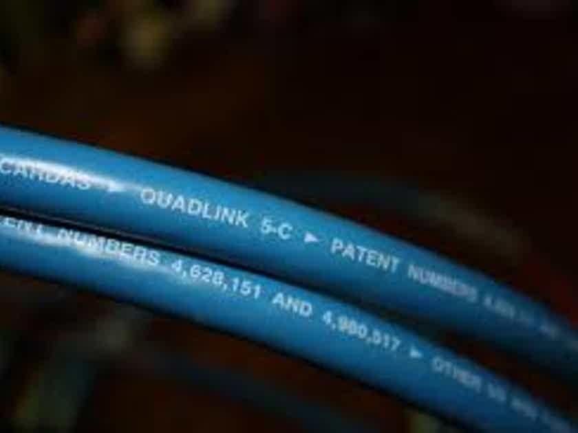 CARDAS QUADLINK 5C INTERCONNECT PAIR - RCA - EXCELLENT!