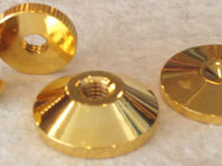 NEW !!! BBC Gold Audio Isolation Metal Cones 4 pc