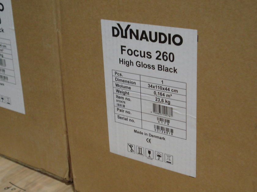 Dynaudio Focus 260 High gloss black Only 8 months old.