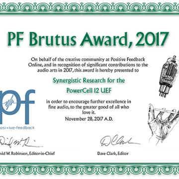 Postive Feedback Brutus Award 2017