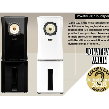 Voxativ 9.87 System - Winner of The Absolute Sound Golden Ear Award 2018