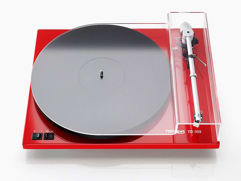 THORENS TD-203 Analog Turntable (Red): Excellent DEMO; Full Warranty; 39% Off; Free Shipping