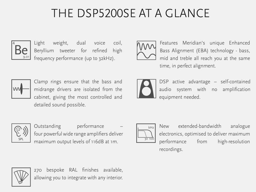 Meridian DSP5200SE - Special Edition - Digital Active Speakers