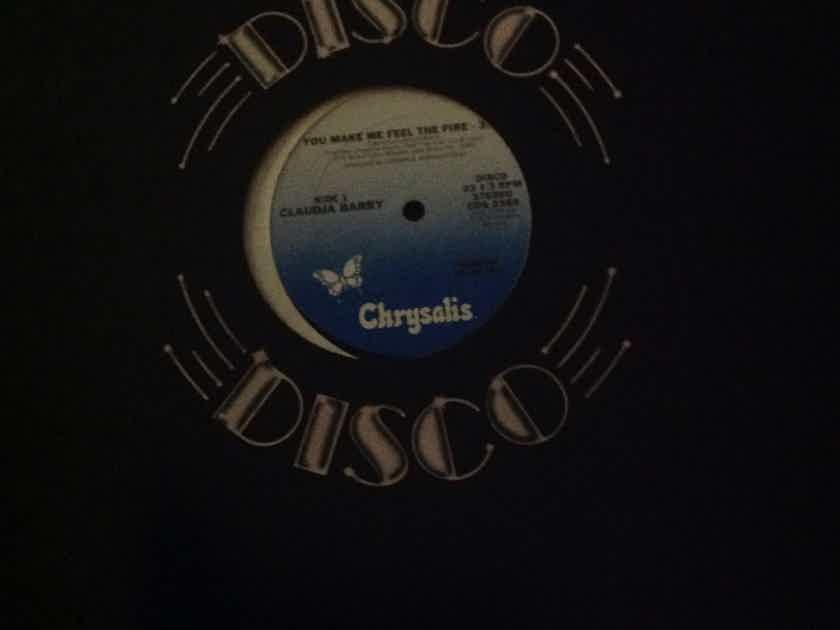Claudja Barry - You Make Me Feel The Fire Promo Chrysalis Records 12 Inch Single Vinyl  NM