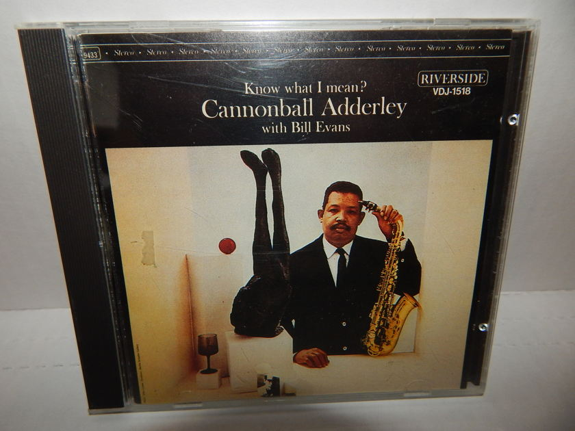 CANNONBALL ADDERLEY Bill Evans - Know What I Mean? Japan Import 1985 Riverside  VDJ-1518 1P CD NM