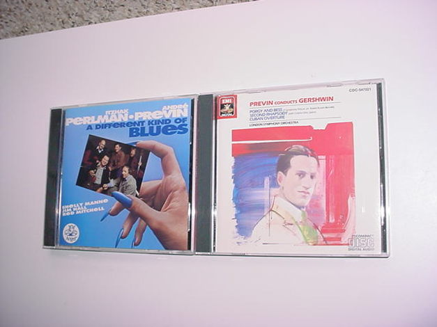 Andre Previn 2 cd's conducts Gershwin EMI