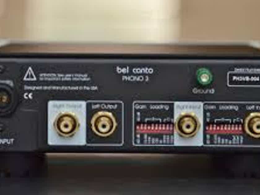 Bel Canto Design Phono Stage with Power Supply.