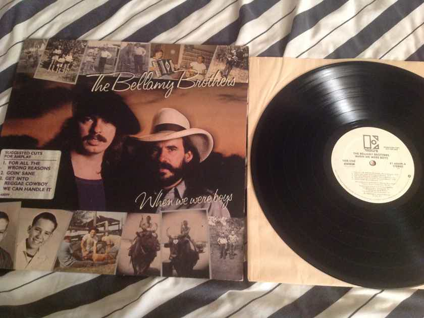 The Bellamy Brothers  When We Were Boys White Label Promo LP