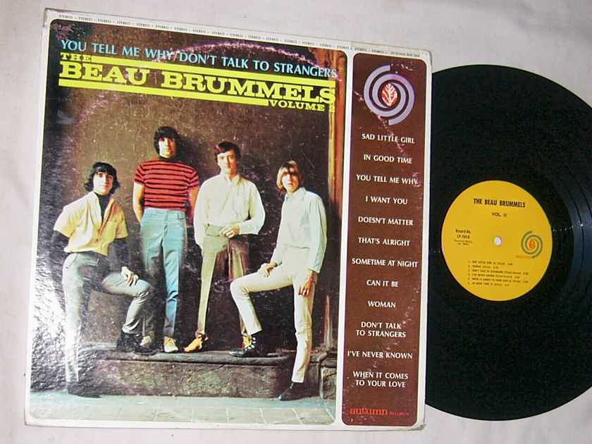 THE BEAU BRUMMELS -  - VOLUME 2 - RARE ORIG 1965 LP  - AUTUMN - GARAGE ROCK
