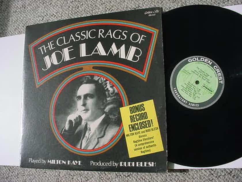 The classic rags of Joe Lamb - with bonus 1 sided record by Milton Kaye Rudi Blesh