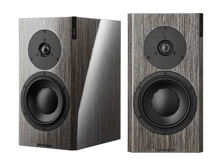 Dynaudio Focus 20 XD Powered Speakers; High Gloss Grey Oak Pair w/ Stands (New) (1/9) (19586)