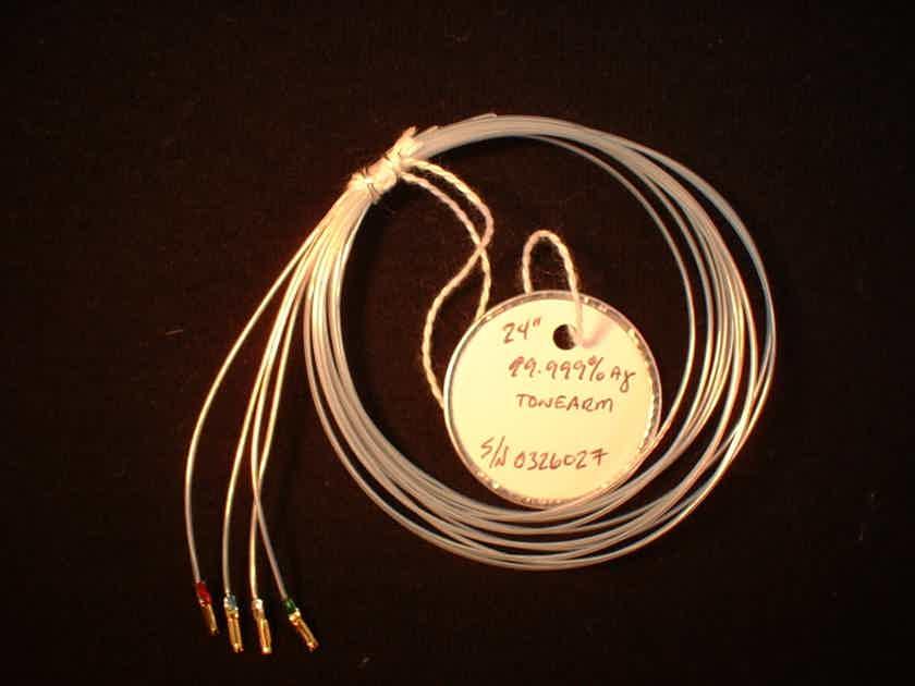 "Aural Harmony 99.999% Pure Silver Tonearm Wire Set 24""( 61 cm)32.7ga.(.186mm)"