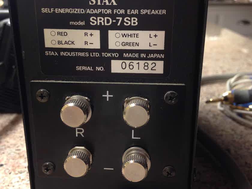 Stax SRD-7/SB electrostatic earspeakers