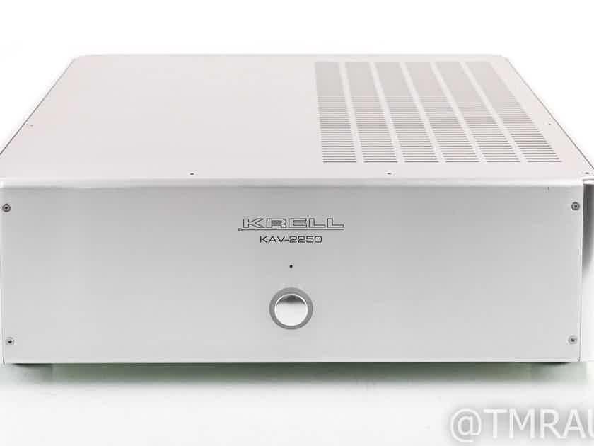 Krell KAV-2250 Stereo Power Amplifier; KAV2250; Silver (28842)