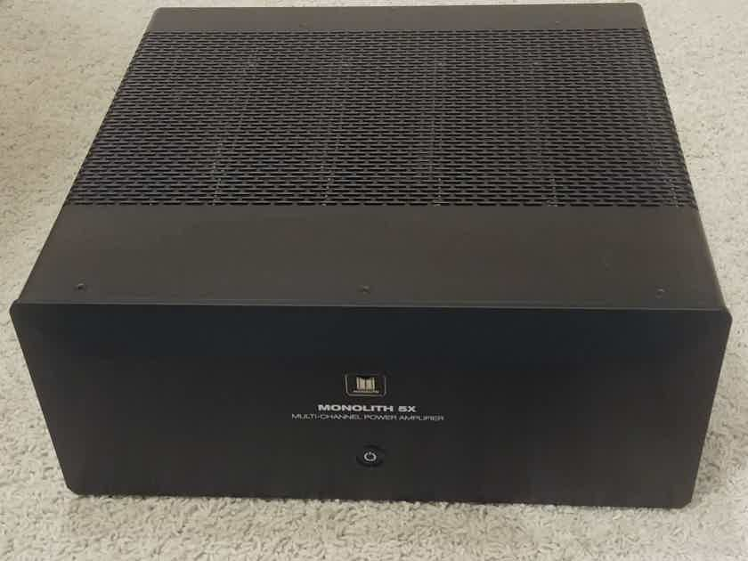 Monoprice Monolith 5 Channel Amplifier, as new.
