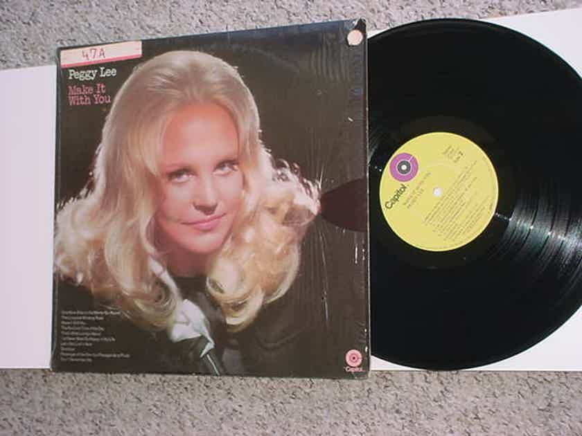 Peggy Lee lp record  - Make it with you lime green Capitol st-622  hp