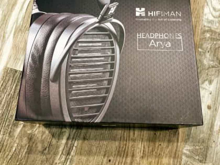 HIFIMAN Arya Full-Size Over Ear Planar Magnetic Audiophile Adjustable Headphone - Black