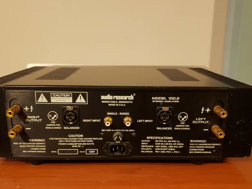 Audio Research Model 100.2 Stereo Power Amplifier. Price Drop!