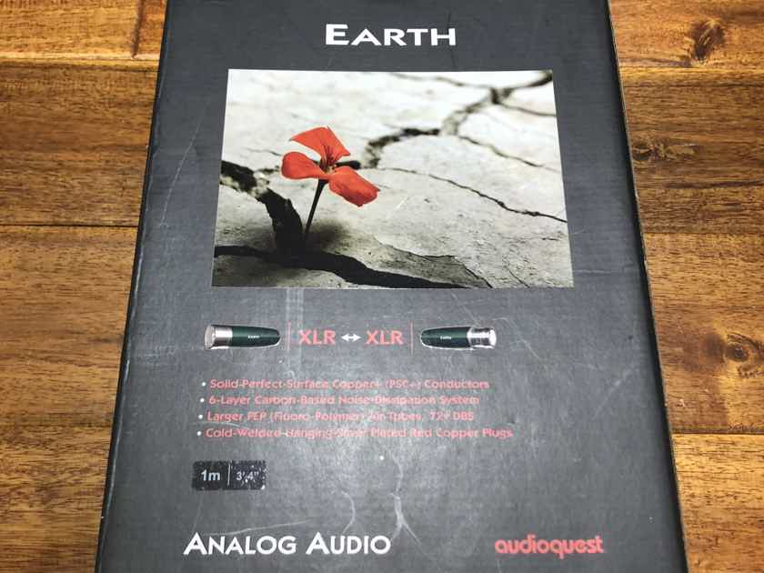 AudioQuest Earth XLR 1m Analog Interconnects BRAND NEW