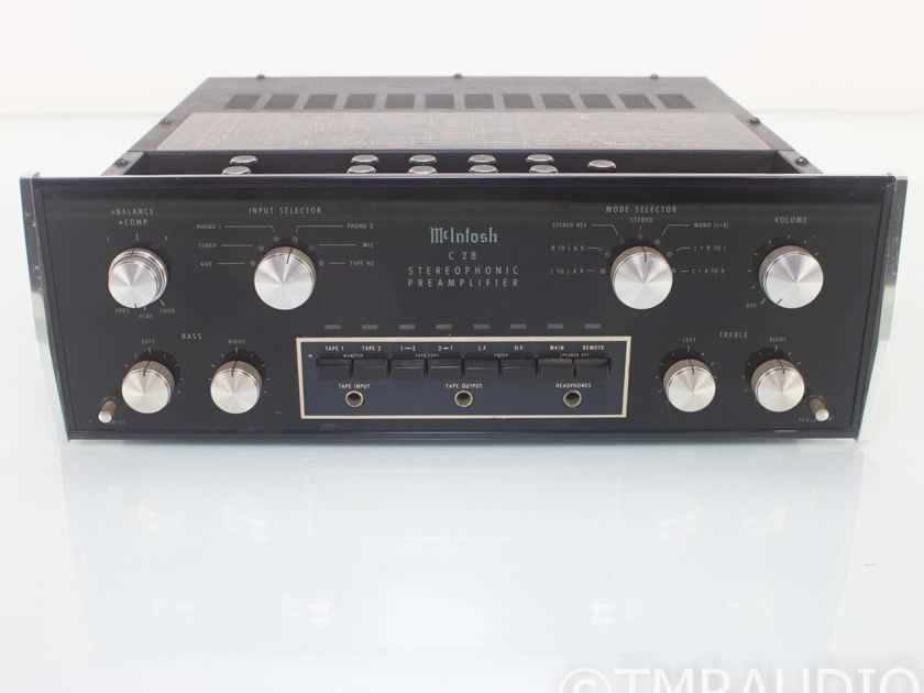 McIntosh C28 Vintage Stereo Preamplifier; C-28; MM Phono (18573)