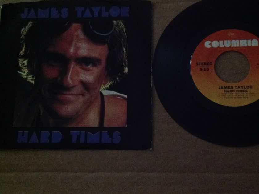 James Taylor - Hard Times/ Summer's Here Columbia Records 45 With Picture Sleeve Vinyl NM