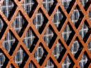 Replaced black grilles with Fender cloth, and painted the lattice with hammered-copper effect