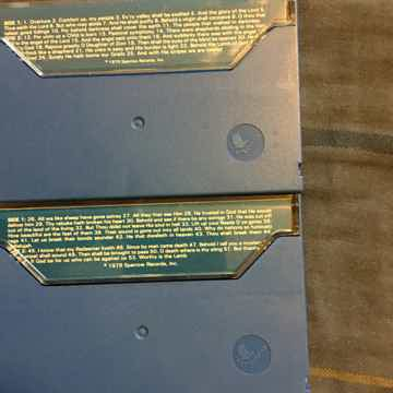 Birdwing BWC-2011 Handel Messiah volume 1 and 2 audio cassette tapes