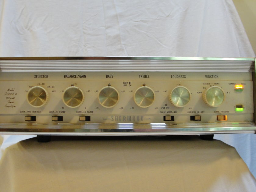 Sherwood (Matching) S5000ii and S3000V Upgraded Tube Amplifier