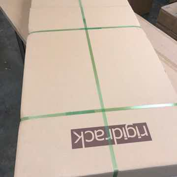 "Butcher Block Acoustics rigidrack™ 24"" X 18"" - 3 Shelf - Walnut Shelves - Maple Legs"