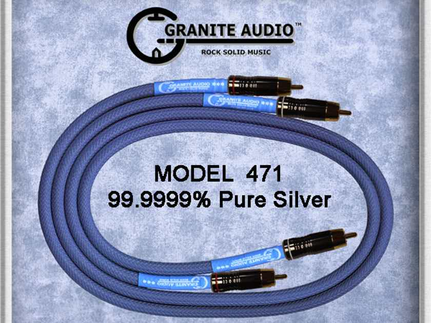Granite Audio 470 int Amazing 1m SILVER iNTERCONNECTS