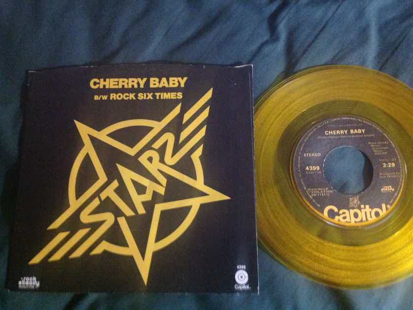 Starz - Cherry Baby Capitol Records Gold Vinyl 45 With Picture Sleeve