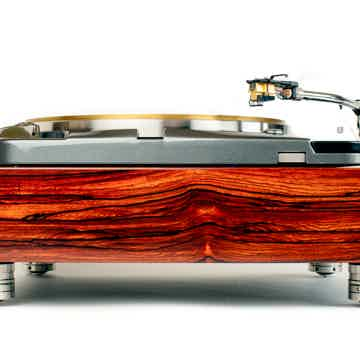 Thorens TD124  Quartersawn Cocobolo Plinth  by Woodsong...