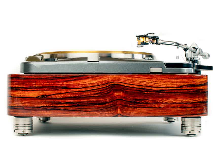 Thorens TD124  Quartersawn Cocobolo Plinth  by Woodsong Audio