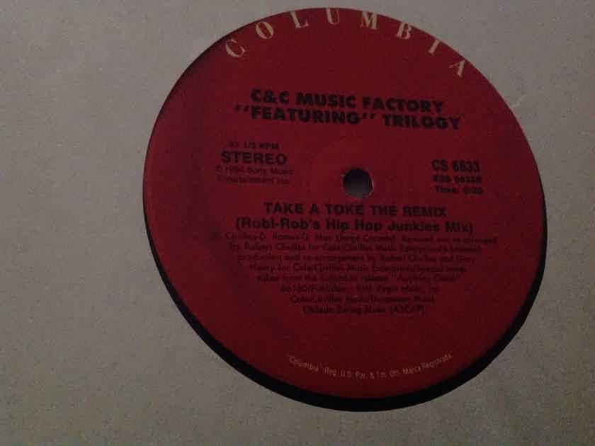 C & C Music Factory Featuring Trilogy - Take A Toke The Remix Columbia Records Double Vinyl 12 Inch EP NM