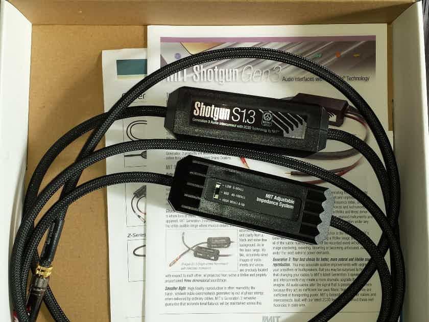 MIT Cables SHOTGUN S1.3 RCA 2C3D. 1M Pair. Used.  Warranty