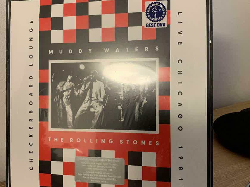 Muddy Waters/Rolling Stones check board lounge 1981 Live In Chicago 2 LP DVD