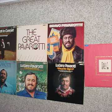Luciano Pavarotti lot of 7 lp records excellent
