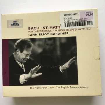Bach John Eliot Gardiner  Matthaus Passion 3 Cd set Archiv 1989 digital stereo