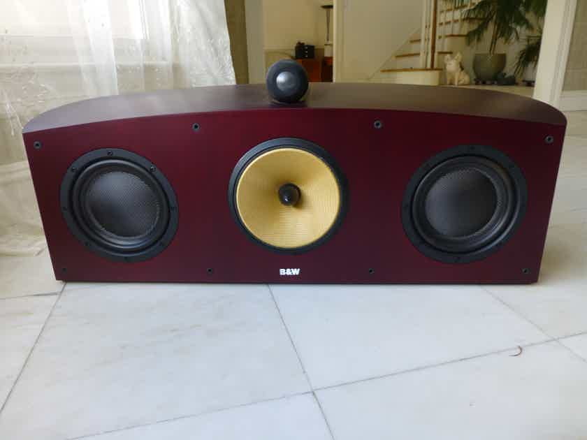 B&W (Bowers & Wilkins) Nautilus HTM1 Red Cherry Center Speaker - Excellent Condition