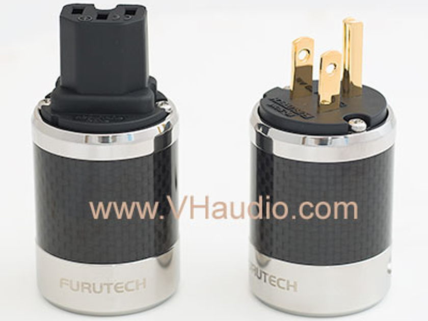 NEW Furutech  FI-50 GOLD / Carbon Fiber Male and IEC power connectors