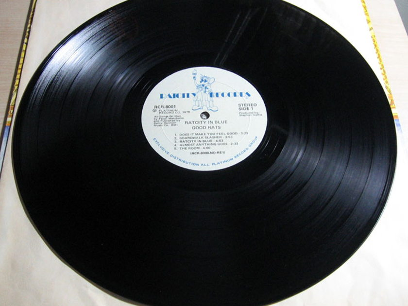 Good Rats - Ratcity In Blue - White Label Promo - Ratcity Records RCR-8001