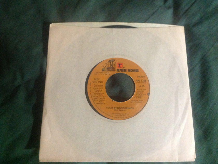 Neil Young - Four Strong Winds  Promo Mono/Stereo 45 NM Reprise Label