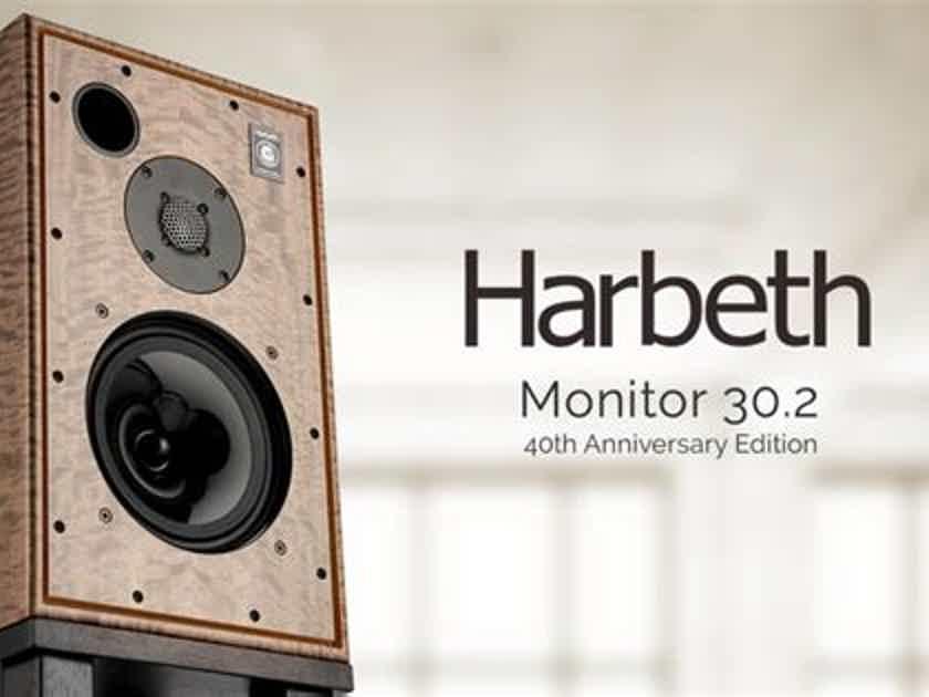 Harbeth 30.2 40th Anniversary Monitor Speakers  IN STOCK! Gene Rubin Audio