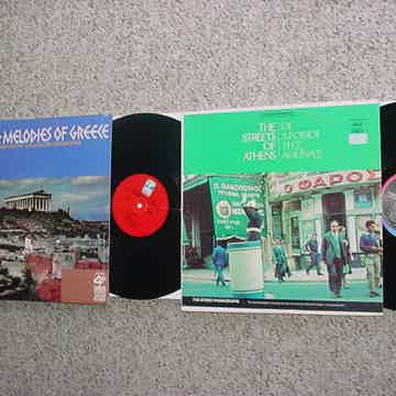 Greece Greek 2 lp records beloved melodies and the streets of Athens