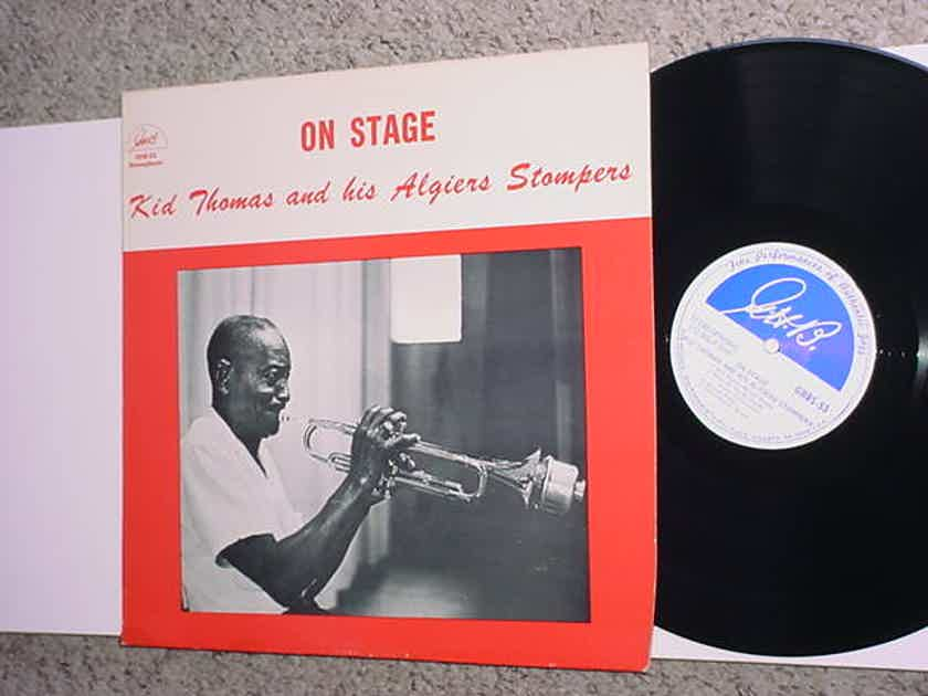 Kid Thomas and his Algiers Stompers on stage lp record GHB-53 jazz