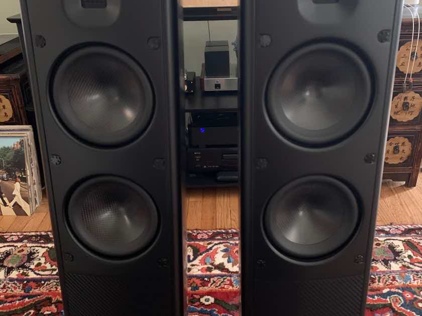 Scansonic MB 2.5 full range ribbon tweeter floor stander