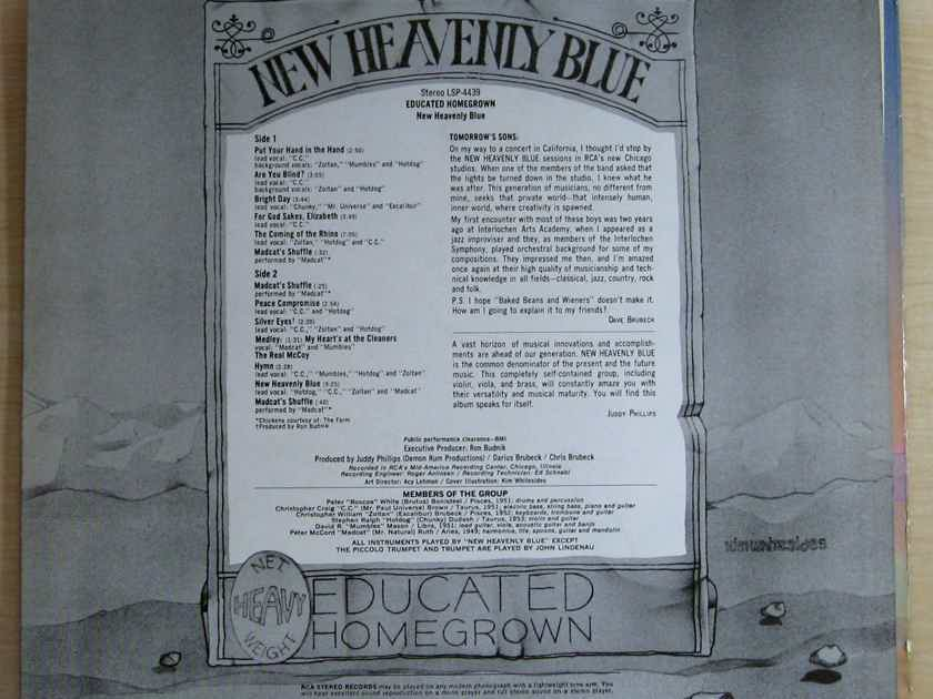 New Heavenly Blue - Educated Homegrown - 1970 RCA Victor LSP-4439