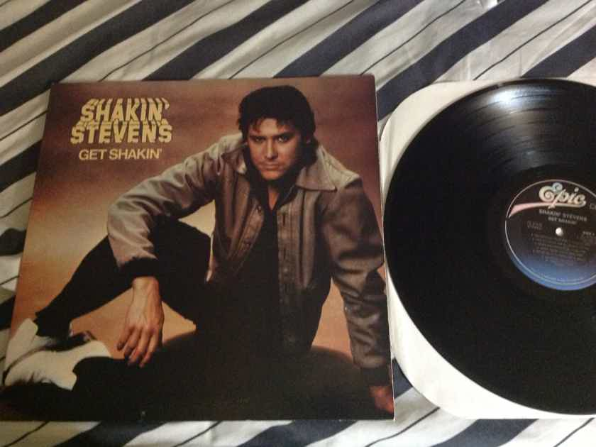Shankin Stevens - Get Shakin' Epic Records Vinyl LP NM CX Encoded