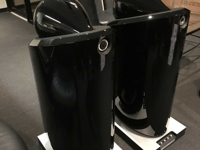 B&W 800D2 Loudspeakers  in black color box and papers